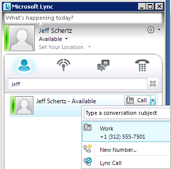 Lync Client Force Address Book