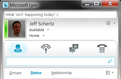 Presence Goes Green on Microsoft Lync 2010 : Jeff Schertz's Blog