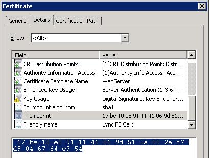 Simple Certificate Requests in Lync : Jeff Schertz's Blog