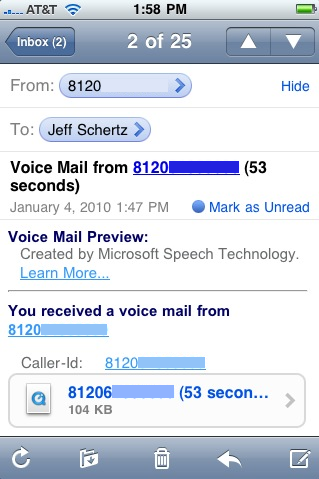 Exchange 2010 Voice Mail with the iPhone : Jeff Schertz's Blog