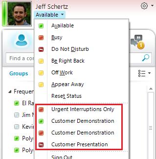 Adding Custom Presence to Lync : Jeff Schertz's Blog