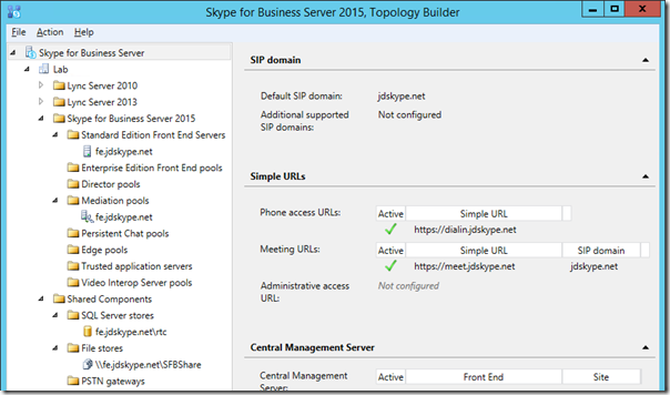 Skype for business server 2015 deployment part 2 jeff for Window is not defined