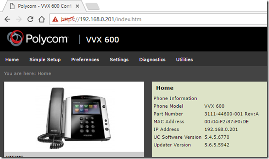Polycom UCS 5 5 for VVX Phones : Jeff Schertz's Blog