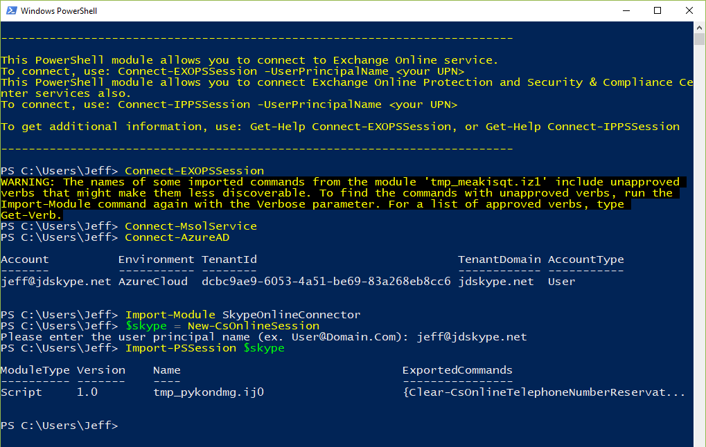 Managing Office 365 with PowerShell : Jeff Schertz's Blog